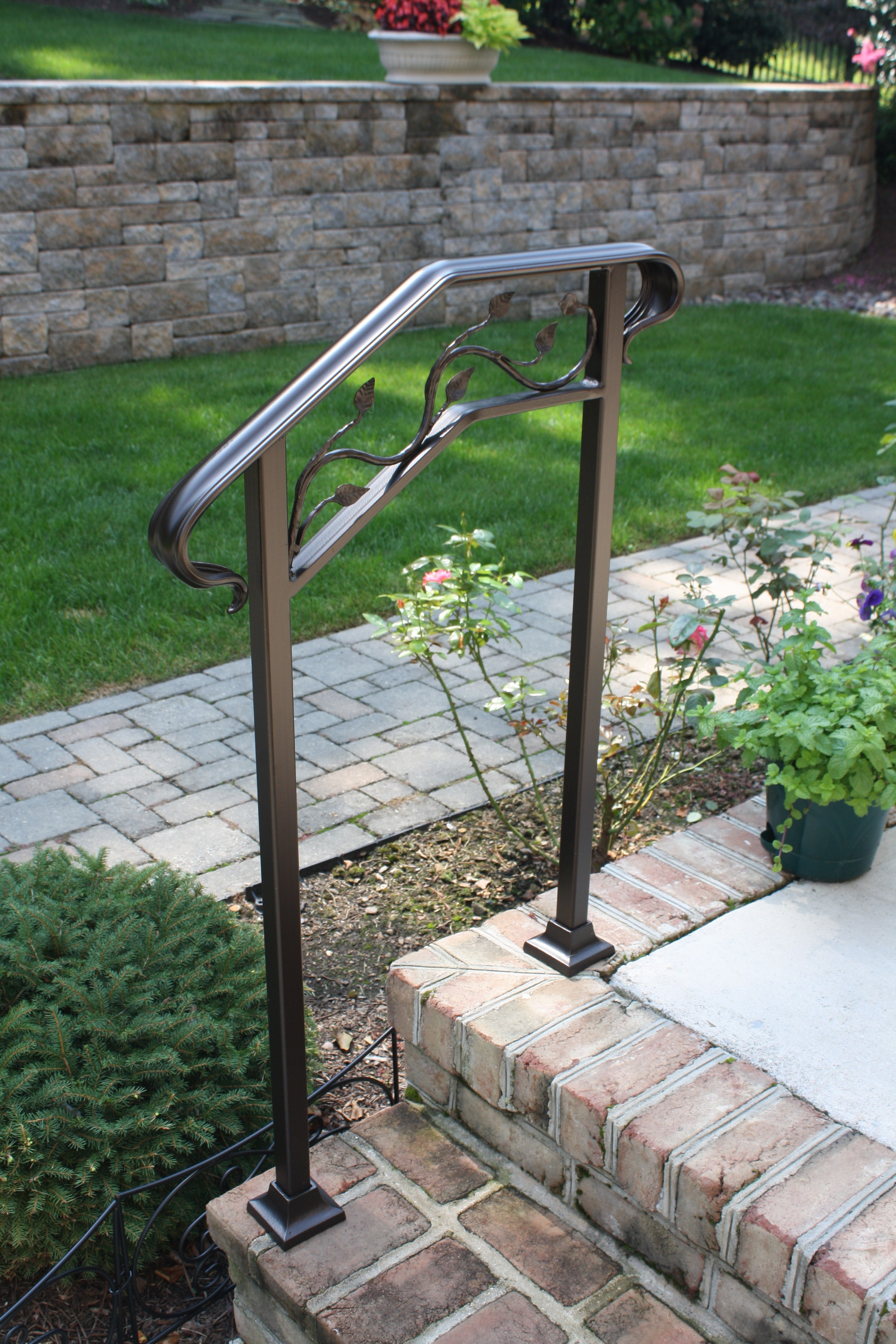 Railing for Small Steps or Walkways- Safety without ...