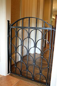 Custom Interior Gate Designed With Safety Of Clients Dogs In Mind No Scroll Work To Catch Their Collars
